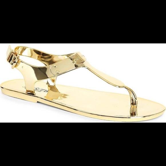 Michael Kors Gold Sandals | Poshmark